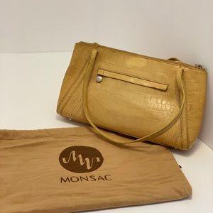 Monsac Original Tan Alligator Leather Handbag